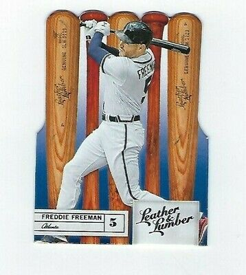 2019 Panini Leather & Lumber Freddie Freeman Bats Base #66