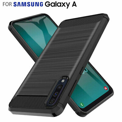 Samsung Galaxy A30 A50 A20 Case Cover, Shockproof Brushed Flexible Silicon