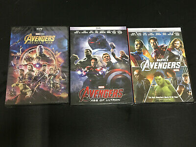 Avengers 1 2 3 DVD 3 Movie Bundle DVD Set Age of Ultron Infinity War Collection