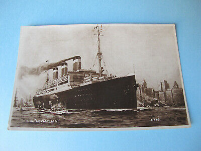SS Leviathan United States Line Ship Postcard