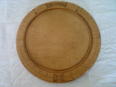 Carved Wood Bread Board Chopping English Kitchenalia 27.5 cm