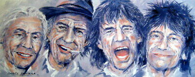"Rolling Stones - Fine Art Print ""Its only Rock, n Roller"""