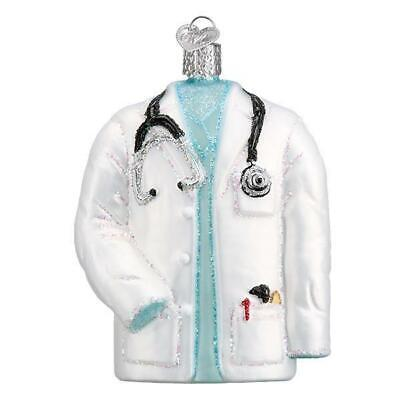 Doctor's Coat Medical Profession Old World Christmas Glass Ornament Nwt 36246