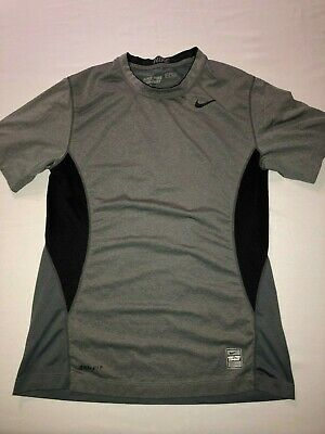 a6736ebf Nike Pro Combat Compression Shirt Men's Size S Small - Gray /Black short  sleeve