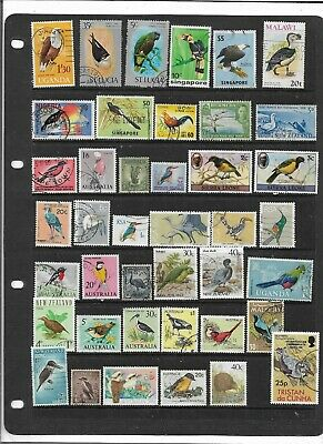 "British Commonwealth ""Birds On Stamps"" Colourful Used Collection"