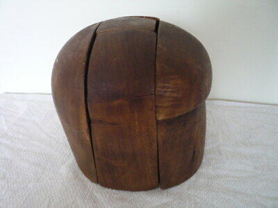 Vtg French Wooden Milliner's Puzzle Hat Block Shop Fitting Window Display Prop