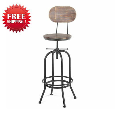 Industrial Style Bar Stool Morden Height Adjustable Swivel Kitchen Dining Chair