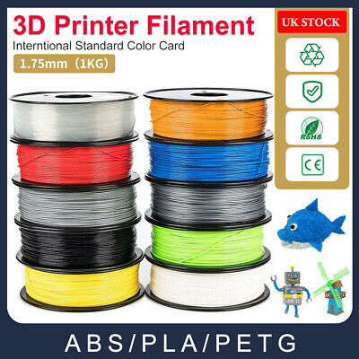 3D Printer Printing Filament PETG / PLA 1.75mm 1KG Spool Accuracy UK