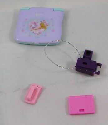 Barbie Electronics Laptop Pink Purple Flip Phone Camera Doll Size Accessories
