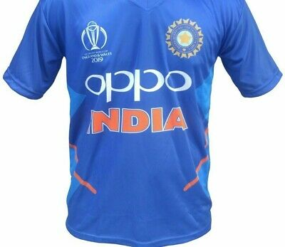 Indian Cricket Jersey Shirt Short/Long Sleeve ICC World Cup 2019 Official-Large