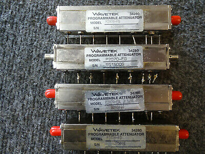 Lot of 4 Wavetek 34280 Programmable Attenuator SMA female P2070-FG
