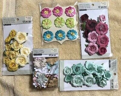 Recollections Paper Flower Bundle Pack Multiple Colors 110 Pcs