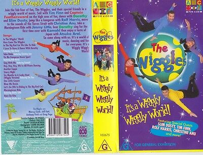 The Wiggles Its A Wiggly Wiggly World Vhs Video Pal~ A Rare Find