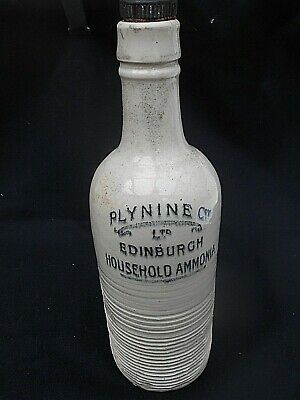 "Antique Stoneware ** PLYNINE EDINBURGH HOUSEHOLD AMMONIA ** Bottle (10.75"" High)"