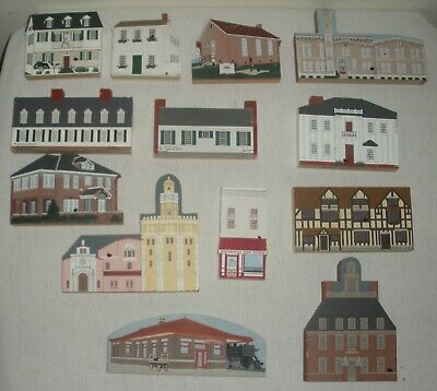 Wood Lot of 13 THE CAT'S MEOW, Martinsville Indiana, Key West, Mark Twain's Home