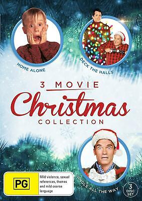 3 Movie Christmas Collection: Home Alone, Deck The Halls, Jingle All The Way - D