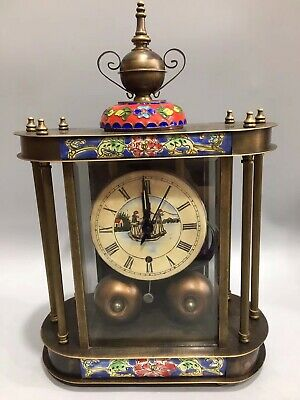 Chinese Cloisonne mechanical clock Watch Home decoration