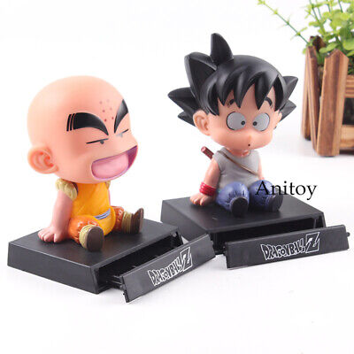 Dragon Ball Z Krillin Son Gokou Mobile Phone Holder Bobble Head Action Figure