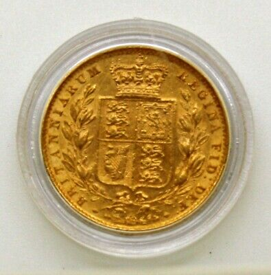 Scarce unbarred A's 1858 22ct Full Gold Queen Victoria Sovereign 10-3859-8514-66