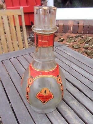 ancienne bouteille liqueur 4 compartiments CUSENIER liquor old bottle