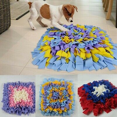 Dog Snuffle Mat Pet Stress Relieving Nosework Training Washable