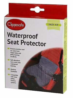 Clippasafe WATERPROOF SEAT PROTECTOR Baby/Toddler Car Organisation Travel BN