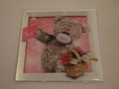 Carte 3D plus Ourson Peluche - Me to you - Merci !