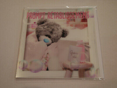Carte 3D plus Ourson Peluche - Me to you - Prompt rétablissement - Guéris vite !