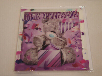 Carte 3D plus Ourson Peluche - Me to you - Joyeux anniversaire