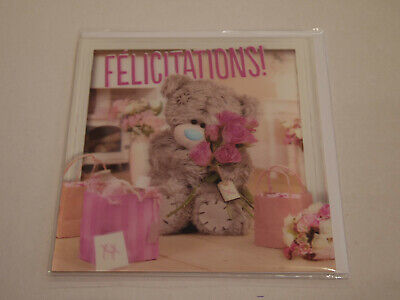 Carte 3D plus Ourson Peluche - Me to you - Félicitations (1)