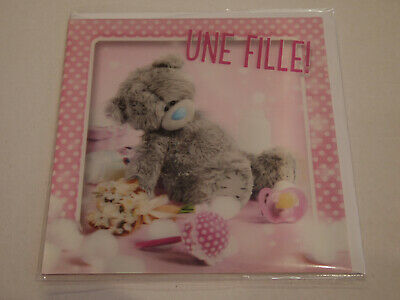 Carte 3D plus Ourson Peluche - Me to you - Une fille !