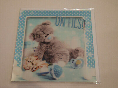 Carte 3D plus Ourson Peluche - Me to you - Un fils !