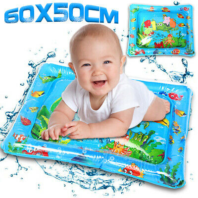 Inflatable Water Mat Baby Infant Toddlers Mattress Splash Playmat Tummy Pad Gift