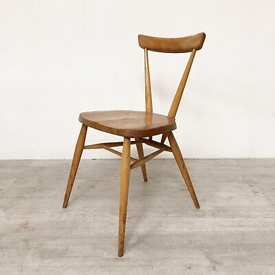 Beautiful Vintage Ercol Mid Century 1960S Blonde Elm Stacking Chair X1