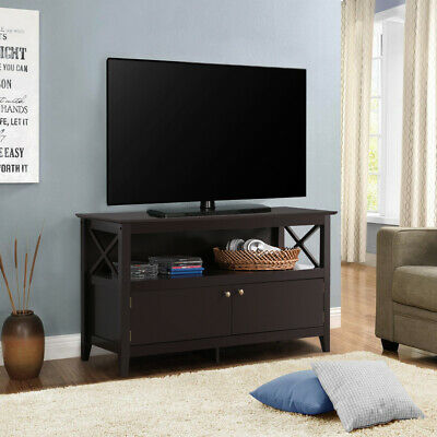 X Shape TV Stand Base Console Storage Cabinet Home Media Entertainment Center