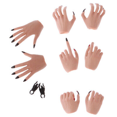 1//6 Scale Female Body Eagle Claw Hand Types Models Pearl Nail Polish Skin Color