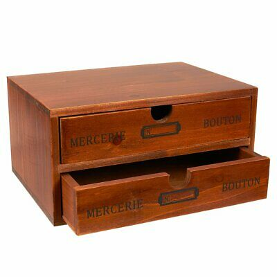 Organizer Holder Storage Drawers Decorative Wooden With Chic French