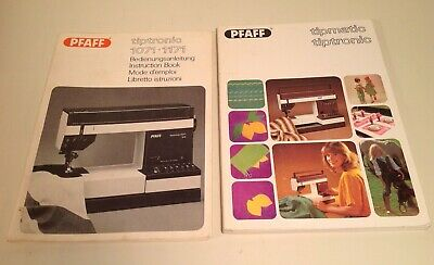 Pfaff Instruction manual~ Tiptronic1071-1171 instructions, tips,ideas~ set of 2