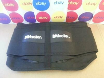 "Mueller 255 Lumbar Support Back Brace with Removable Pad Black Regular 28"" - 50"""