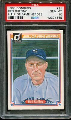 1983 Donruss Hall Of Fame Heroes #31 Red Ruffing Hof Psa 10 B2652568-865