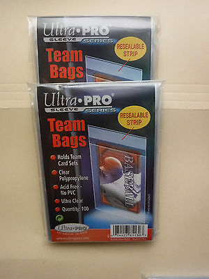 200 Ultra Pro Team Set Bags Resealable Strip Card Storage Bags 200 = 2 Packs