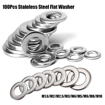 Steel Silver Metric Flat Screw Plain Gaskets Useful Washer Washers Kit