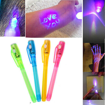 Waterproof Combo Drawing UV Light Painting Marker 2 In 1 Invisible Ink Pen