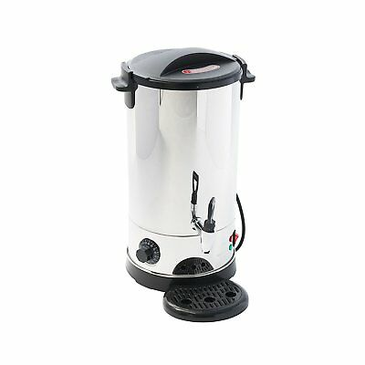9L Stainless Steel Tea Urn Electric Catering Hot Water Boiler Coffee 1500W
