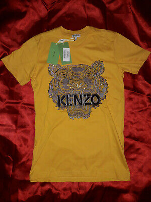 Kenzo Men T-shirt  New With Tags Short Sleeve Color Yellow