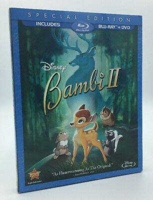 Bambi II (Blu-ray+DVD, 2011; 2-Disc Set, Special Edition) NEW w/ Slipcover  OOP