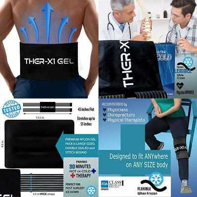 Ice Packs For Injuries LARGE Reusable Gel Pad Back Pain Hip Knee Cold Therapy Re