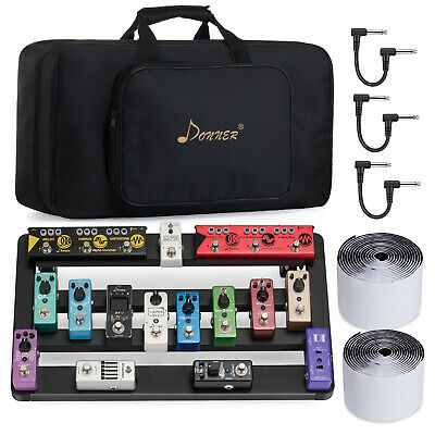 Donner DB-5 Guitar Effect Pedal Board Rack Cable Tap Set with Storage Case Bag