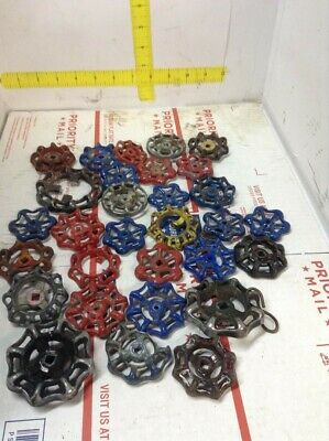 Lot of 30 ASSORTED METAL  Valve Handles STEAMPUNK-