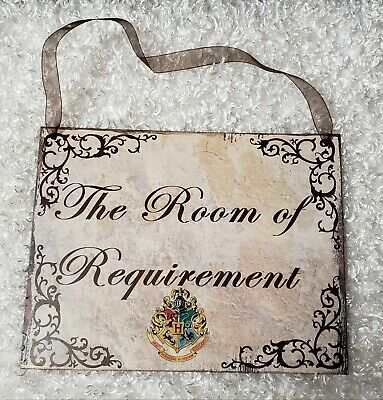 """Harry Potter theme """"Room of Requirement"""" chipboard sign wall hanging decor"""